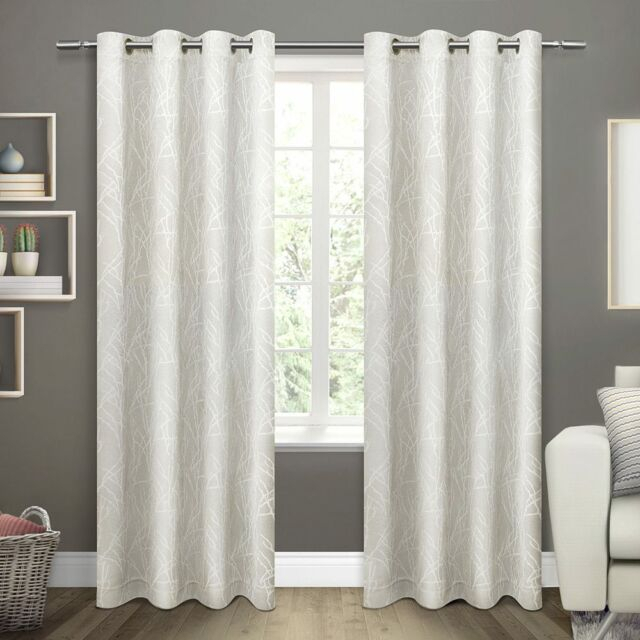 Ati Home Twig Insulated Woven Blackout Window Curtain Panel Pair (Taupe)  Wm9 M01 Intended For Woven Blackout Curtain Panel Pairs With Grommet Top (Image 4 of 25)