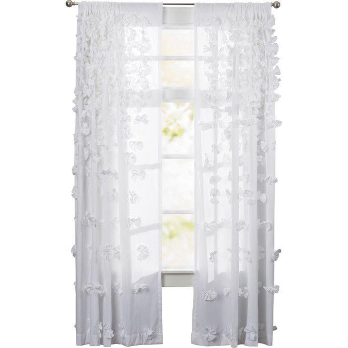 August Grove Harrietta Light Filtering Single Curtain Pane Regarding The Gray Barn Gila Curtain Panel Pairs (Image 2 of 25)