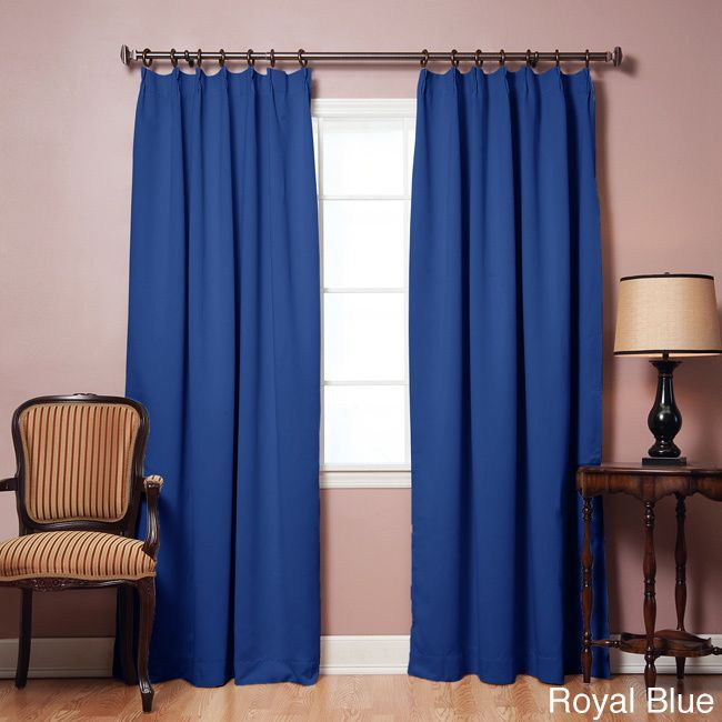 Aurora Home Pleated 84 Inch Blackout Curtain Panel Pair Inside Abstract Blackout Curtain Panel Pairs (Image 5 of 25)