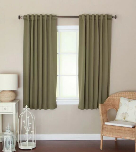 Aurora Insulated 72 Inch Thermal Blackout Curtain Panel Pair 52 X 72 Olive Green In Thermal Insulated Blackout Grommet Top Curtain Panel Pairs (View 7 of 25)