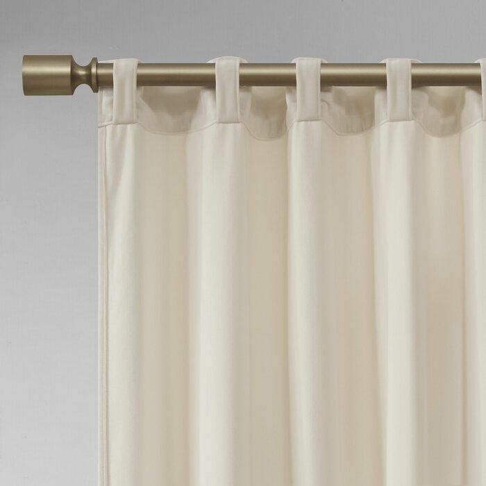 Aurora Poly Velvet Solid Room Darkening Rod Pocket/tab Top Curtain Panels Pertaining To Velvet Solid Room Darkening Window Curtain Panel Sets (Image 3 of 25)