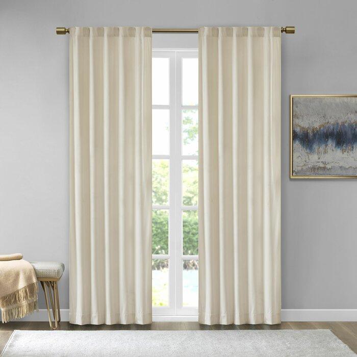 Aurora Poly Velvet Solid Room Darkening Rod Pocket/tab Top Curtain Panels Pertaining To Velvet Solid Room Darkening Window Curtain Panel Sets (Image 2 of 25)