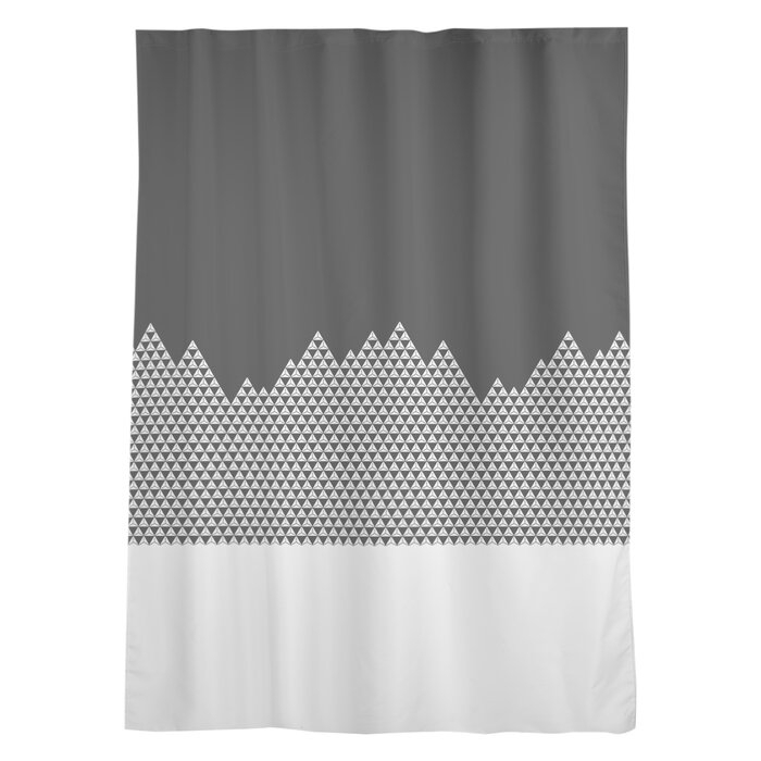 Avicia Mountain Window Geometric Sheer Rod Pocket Single Curtain Panel In Sateen Twill Weave Insulated Blackout Window Curtain Panel Pairs (View 24 of 25)