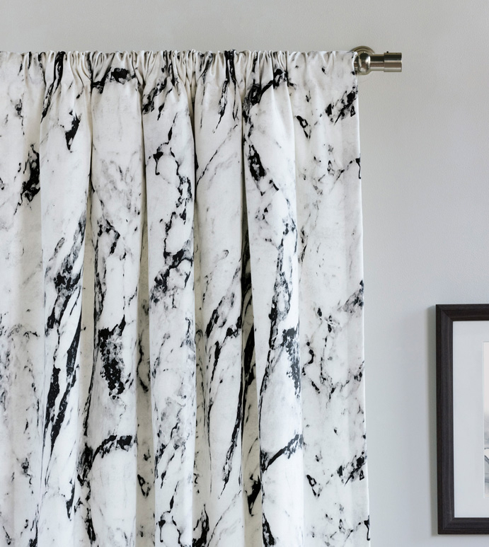 Banks Marble Curtain Panel With Linen Button Window Curtains Single Panel (View 24 of 25)