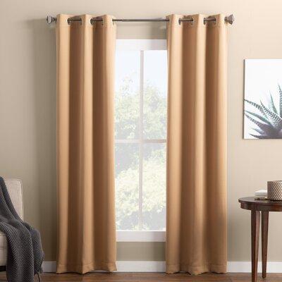 Basics™ Wayfair Basics Solid Blackout Grommet Single Curtain Inside Hayden Grommet Blackout Single Curtain Panels (Image 2 of 25)