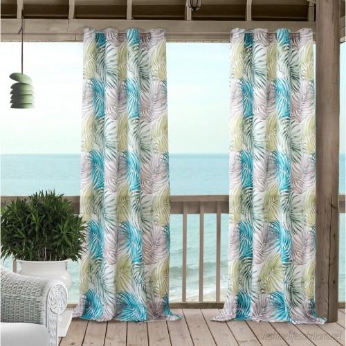 Bayou Breeze Ketterer Floral Room Darkening Indoor/outdoor Regarding Valencia Cabana Stripe Indoor/outdoor Curtain Panels (Image 3 of 25)