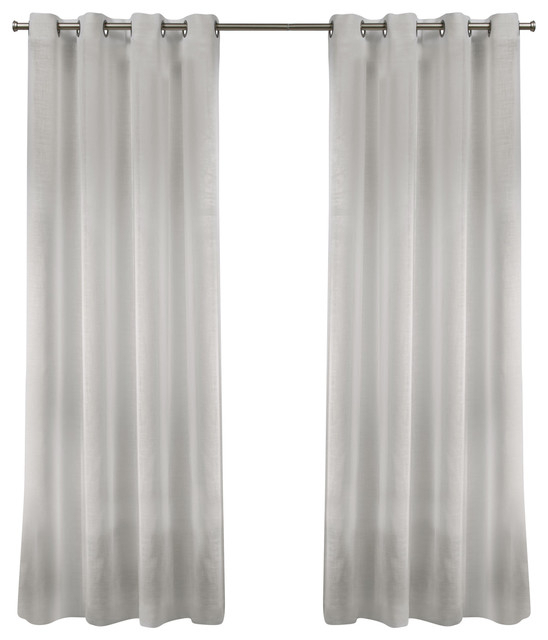 Belgian Sheer Grommet Top Curtain Panel Pair, 50X108, Snowflake For Wilshire Burnout Grommet Top Curtain Panel Pairs (View 4 of 25)