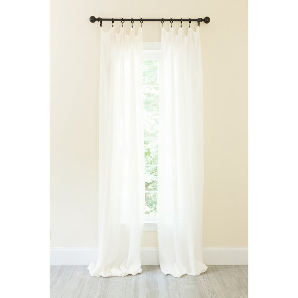 Belgium Linen Curtains | Wayfair Pertaining To Heavy Faux Linen Single Curtain Panels (Image 5 of 25)