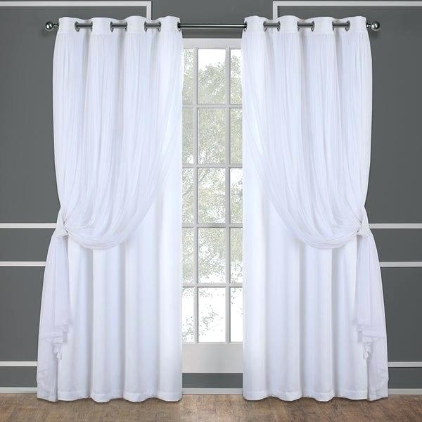 Best Thermal Curtains Home Layered Curtain Panel Pair With Inside Thermal Insulated Blackout Grommet Top Curtain Panel Pairs (View 10 of 25)