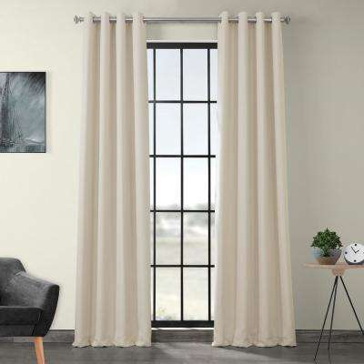Birch – Blackout Curtains – Curtains & Drapes – The Home Depot Intended For Faux Linen Extra Wide Blackout Curtains (View 6 of 25)
