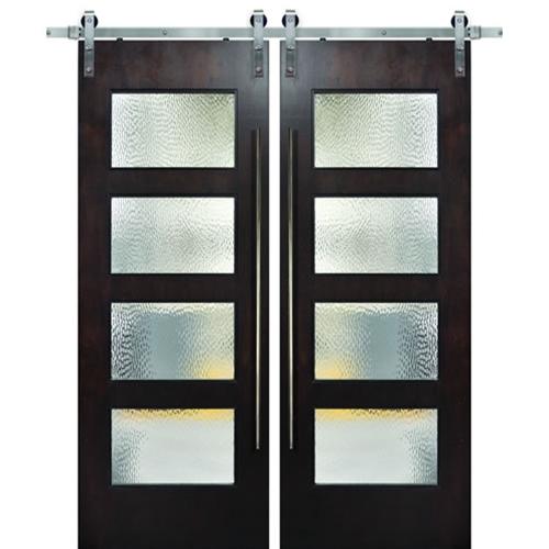 Birch Santa Monica 4 Lite Barn Door 2 Pertaining To The Gray Barn Gila Curtain Panel Pairs (Image 4 of 25)