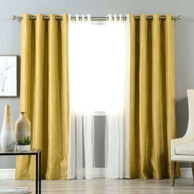 Black And Ivory Curtains – Jayengineering Pertaining To Overseas Faux Silk Blackout Curtain Panel Pairs (View 20 of 25)