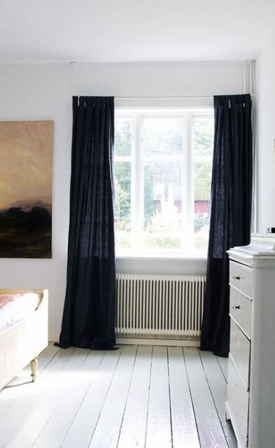 Black Linen Curtain | Room In 2019 | Linen Curtains, Black Within Vue Elements Priya Tab Top Window Curtains (Image 11 of 25)