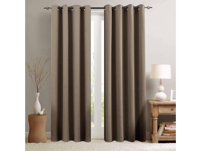 Blackout Curtains For Living Room 95 Inch Length Bedroom Window Curtains  Triple Weave Room Darkening Curtain Panels Thermal Insulated Grommet Top For Woven Blackout Curtain Panel Pairs With Grommet Top (Image 7 of 25)