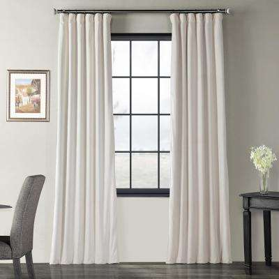 Blackout Signature Ivory Blackout Velvet Curtain – 50 In. W X 96 In (Image 2 of 25)