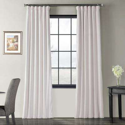 Blackout Signature Off White Blackout Velvet Curtain – 50 In. W X 96 In (Image 8 of 25)