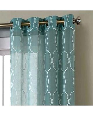 Blue Grommet Curtains – Fbpoll With Faux Linen Extra Wide Blackout Curtains (View 15 of 25)