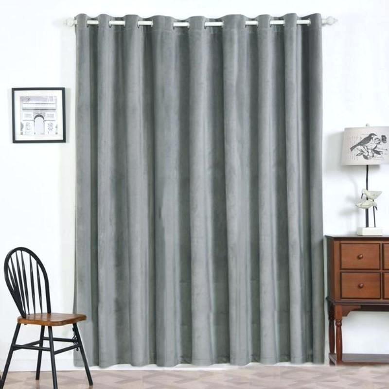Blue Heritage Plush Velvet Curtain Blackout Curtains N Inside Heritage Plush Velvet Curtains (Image 1 of 25)