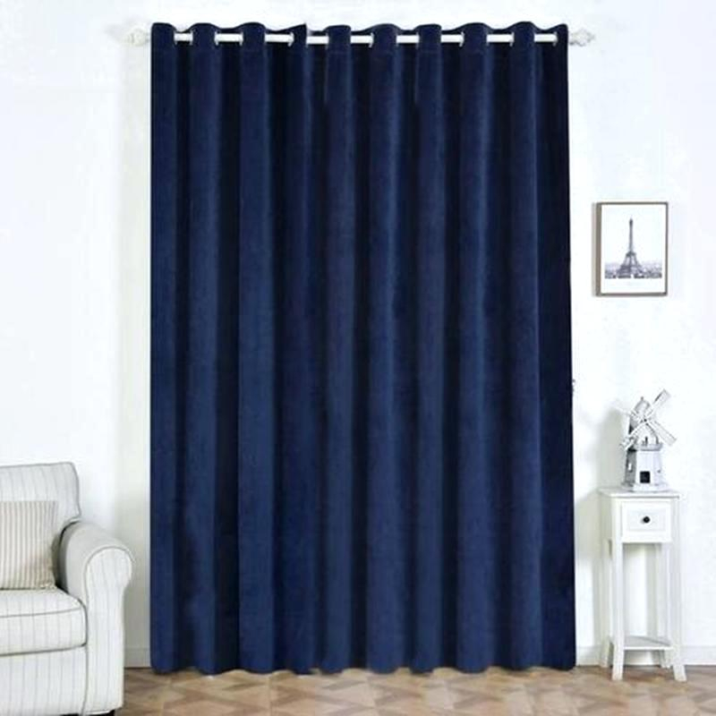 Blue Heritage Plush Velvet Curtain Blackout Curtains N With Regard To Heritage Plush Velvet Curtains (Image 2 of 25)