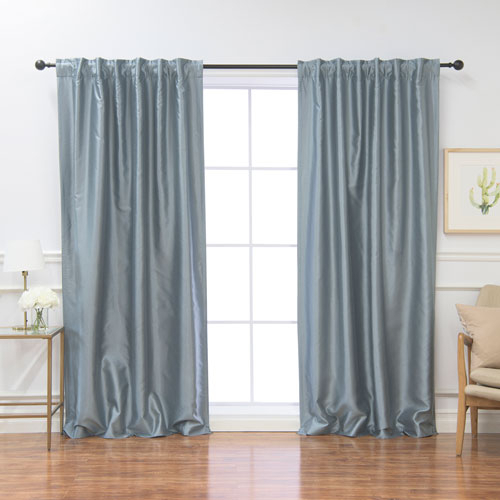 Blue Panel Pair Curtains And Drapes | Bellacor Regarding Julia Striped Room Darkening Window Curtain Panel Pairs (Image 3 of 25)