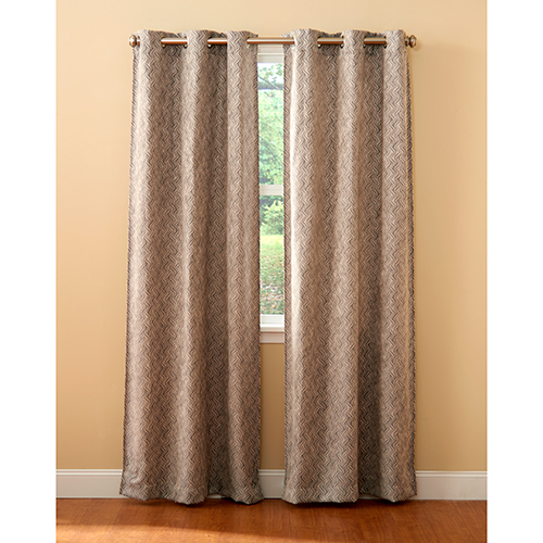 Bowie Woven Geo Grommet Curtain Panel Pair Pertaining To Woven Blackout Curtain Panel Pairs With Grommet Top (Image 8 of 25)