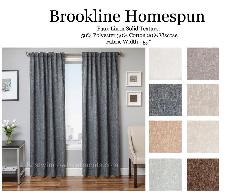 Brookline Linen Curtain Drapery Panels | Bestwindowtreatments For Faux Linen Extra Wide Blackout Curtains (View 4 of 25)