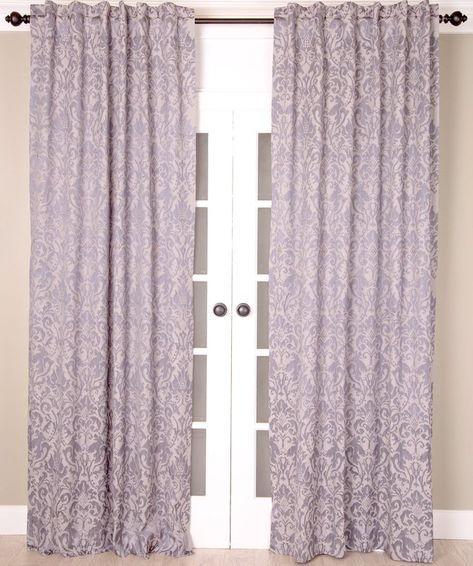 Bryton Paisley Synthetic Blackout Thermal Rod Pocket Single In Vina Sheer Bird Single Curtain Panels (Image 2 of 25)