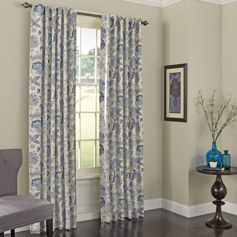 Bryton Paisley Synthetic Blackout Thermal Rod Pocket Single Intended For Vina Sheer Bird Single Curtain Panels (Image 4 of 25)