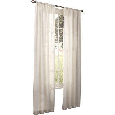 """Bungalow Rose Rosalina Single Curtain Panel Size: 52"""" W X With Jacob Tab Top Single Curtain Panels (Image 4 of 25)"""