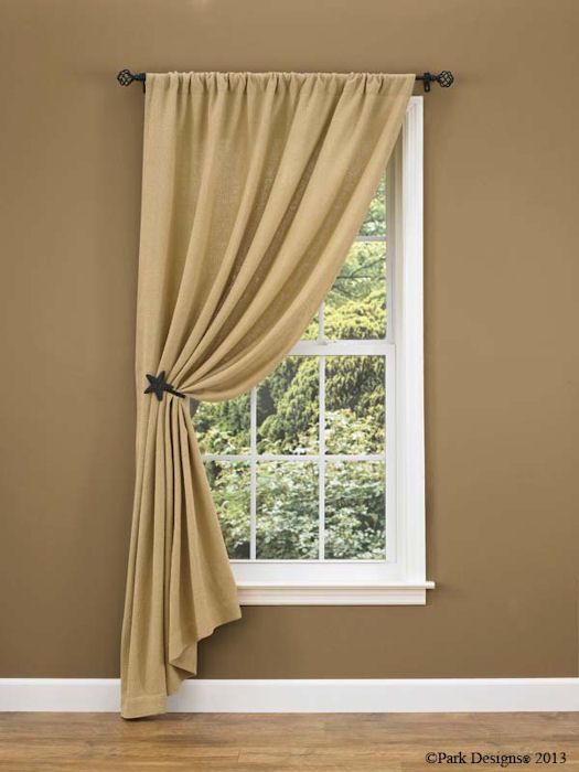 Burlap Curtain Ideas | Change To Ruffled Top – Nice Look For In Linen Button Window Curtains Single Panel (View 9 of 25)