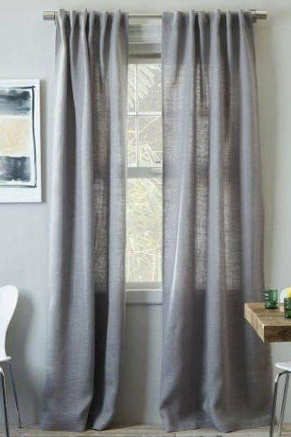 Burlap Curtains, Grey Burlap Window Treatments, Grey Burlap With Regard To Velvet Dream Silver Curtain Panel Pairs (Image 5 of 25)