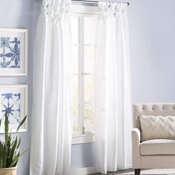 Button Tab Top Curtains | Wayfair With Linen Button Window Curtains Single Panel (View 7 of 25)