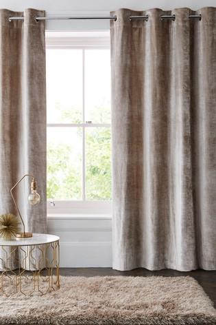 Buy Plush Velvet Eyelet Lined Heavyweight Curtains From Next Pertaining To Heritage Plush Velvet Curtains (Image 3 of 25)
