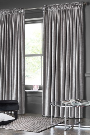 Buy Plush Velvet Pencil Pleat Lined Heavyweight Curtains With Regard To Heritage Plush Velvet Curtains (Image 4 of 25)
