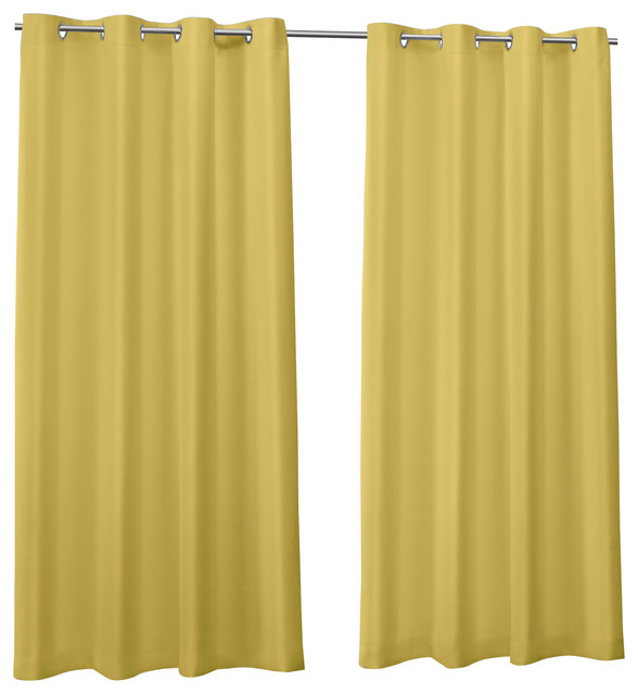 "Canvas Indoor/outdoor Grommet Top Curtain Panels, Set Of 2, Butter, 54""x108"" With Regard To Delano Indoor/outdoor Grommet Top Curtain Panel Pairs (Image 3 of 25)"