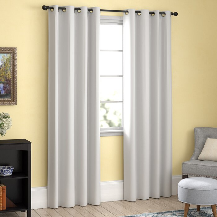 Chet Insulated Lined Solid Blackout Thermal Grommet Curtain Panels With Duran Thermal Insulated Blackout Grommet Curtain Panels (Image 7 of 25)