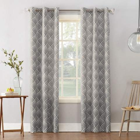 Clarke Geometric Print Textured Thermal Insulated Grommet Curtain Panel Intended For Duran Thermal Insulated Blackout Grommet Curtain Panels (Image 8 of 25)