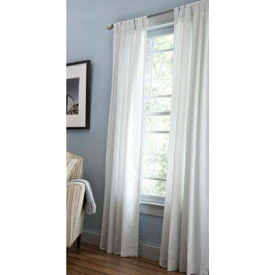 Classic Cotton Light Filtering Window Panel In Pure White – 50 In. W X 84 In (View 4 of 25)