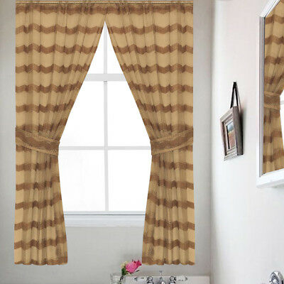 """Classic Hotel Quality 36""""w X 54""""l Fabric Bathroom Window Pertaining To Classic Hotel Quality Water Resistant Fabric Curtains Set With Tiebacks (View 12 of 25)"""