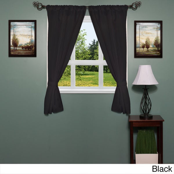 Featured Image of Classic Hotel Quality Water Resistant Fabric Curtains Set With Tiebacks