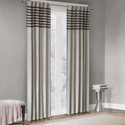 "Connell Curtain Panel Pair Gray 42""x95"" 