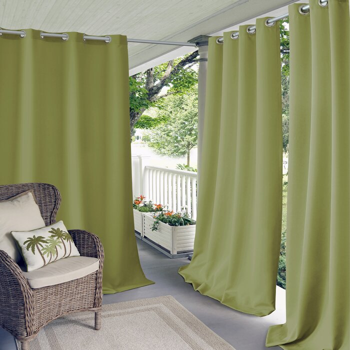Connor Solid Light Filtering Grommet Single Curtain Panel Inside Valencia Cabana Stripe Indoor/outdoor Curtain Panels (Image 7 of 25)