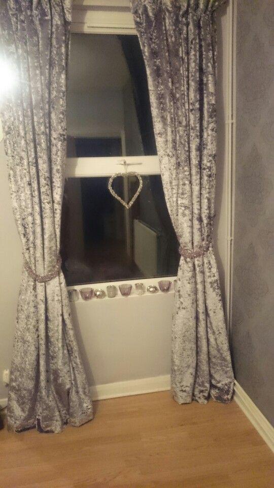 Crushed Velvet Curtains | Crushed Velvet Living Room, Velvet Throughout Velvet Dream Silver Curtain Panel Pairs (Image 6 of 25)