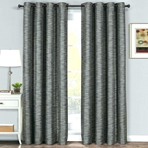 Curtain Panel Pair Aurora Home Silver Grommet Top Thermal In Thermal Insulated Blackout Grommet Top Curtain Panel Pairs (View 6 of 25)
