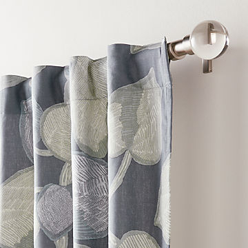 Curtain Panels And Window Coverings | Crate And Barrel Regarding Linen Button Window Curtains Single Panel (View 22 of 25)