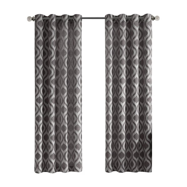 Curtains And Drapes Regarding Abstract Blackout Curtain Panel Pairs (Image 9 of 25)