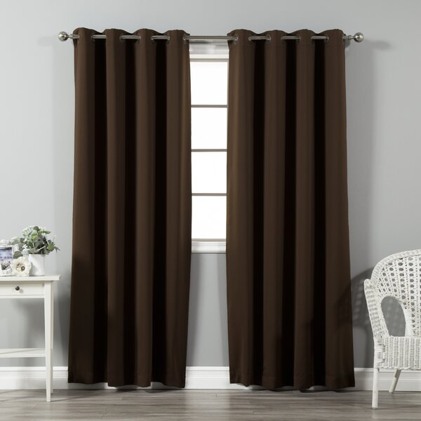 Curtains With Bronze Grommets | Wayfair Throughout Overseas Faux Silk Blackout Curtain Panel Pairs (View 4 of 25)