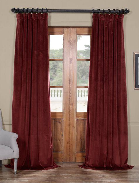 Dark Merlot Heritage Plush Velvet Curtain | Heritage Plush Pertaining To Heritage Plush Velvet Curtains (Image 5 of 25)