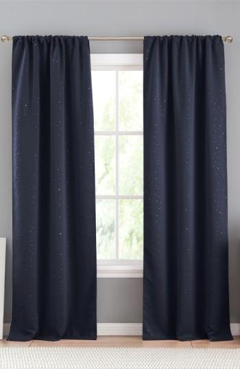 Davis Navy Blackout Window Panels Throughout Davis Patio Grommet Top Single Curtain Panels (Image 8 of 25)