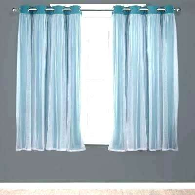 Double Layer Sheer Curtain Layered Curtains Window Solid Throughout Double Layer Sheer White Single Curtain Panels (Image 12 of 25)